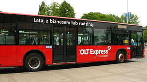 OLT Express - OLT Express bus line from Gdańsk Lech Wałęsa Airport to the city center