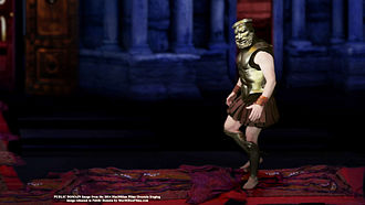 Oresteia - Agamemnon walks on the carpet of sacred peplos garments