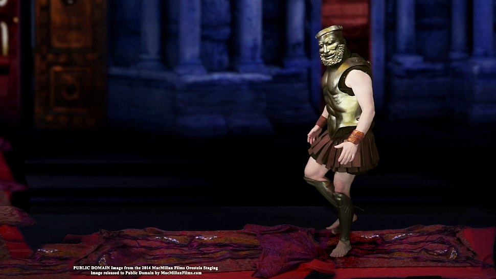 """ORESTEIA Staging - Agamemnon walks on the """"Red Carpet"""""""