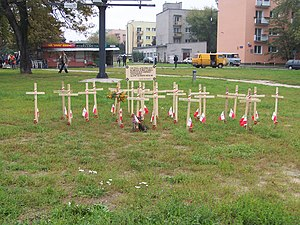 "Sub-district III of Wola (of Armia Krajowa) - Crosses to commemorate the fallen of the 3rd company of sec. lieutenant ""Ostoja"""