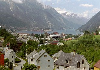 Hardangerfjord - View of the inner part of the fjord, seen from Odda