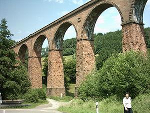 Odenwald Railway (Hesse) - Himbächel viaduct