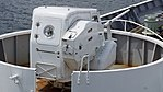 Oerlikon 35mm cannon mounted on JCG Settsu(PLH-07) right rear top view at Port of Kobe July 22, 2017.jpg