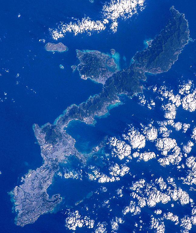 Satellitenbild von Okinawa-Honto