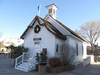 Sparks, Nevada - The Old Glendale School, built in 1864, is listed as a Nevada Historical Marker (No. 169).  Glendale preceded Reno, and is now part of Sparks.