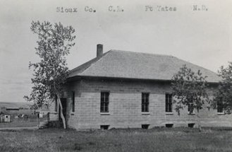 Former Sioux County Courthouse (Fort Yates, North Dakota) - Old Sioux County Courthouse, c. 1920s