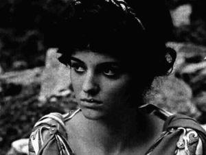 Olimpia Carlisi - Carlisi at the set of Ottone, 1970