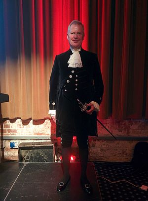 High Sheriff of Derbyshire - Oliver Stephenson, High Sheriff of Derbyshire, at the Derby Book Festival in 2015
