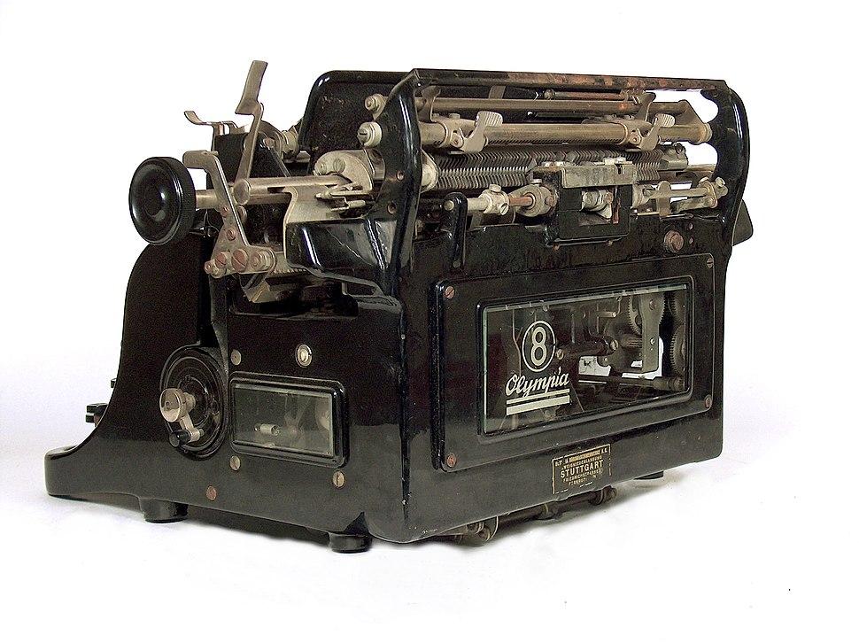 Olympia typewriter model 8 mechanism