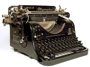 Olympia typewriter model 8 side view