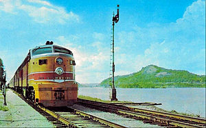 Olympian Hiawatha - Postcard photo of the streamlined train.