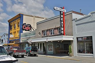 Arlington, Washington - The Olympic Theatre in downtown Arlington, which operated as the city's lone movie theater from 1939 to 2014.
