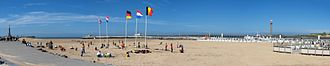 Ostend - Ostend beach and the promenade pier – panoramic view