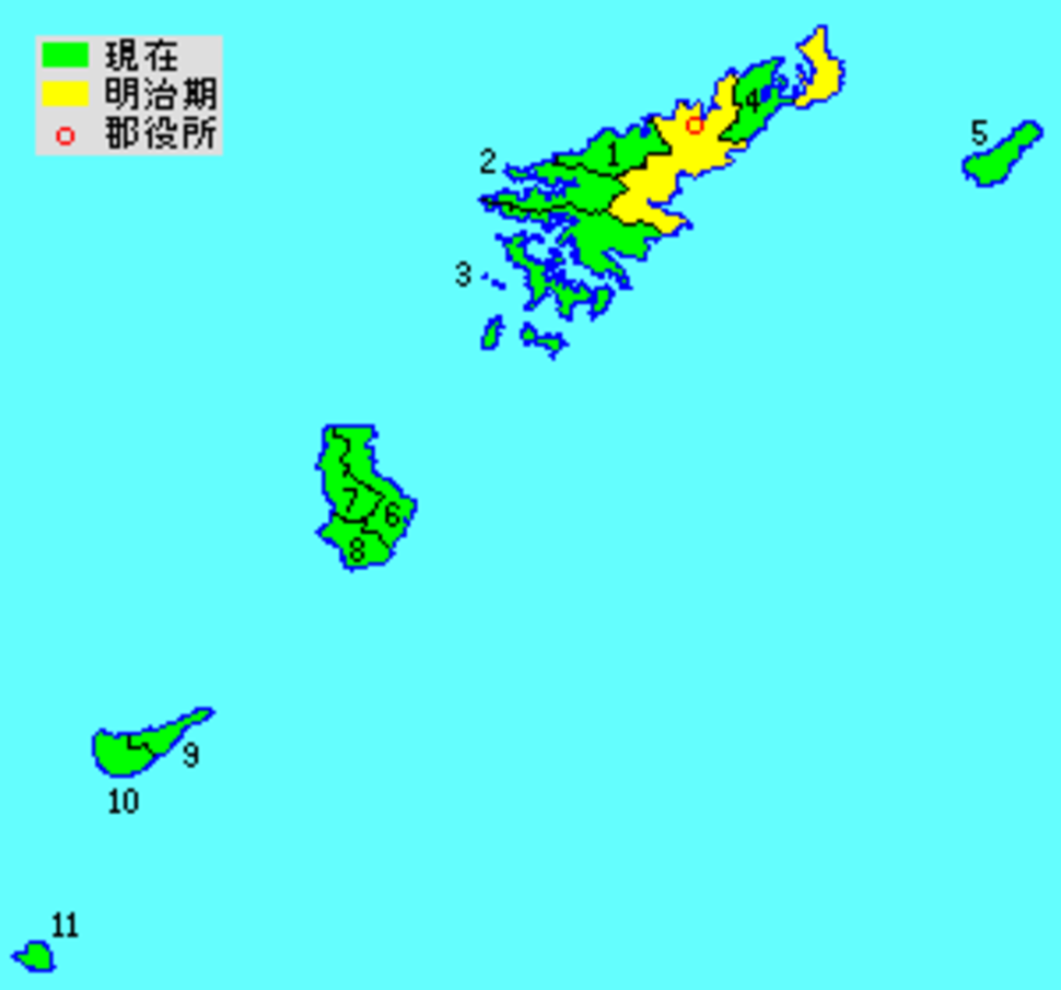 Oshima District in Kagoshima Prefecture
