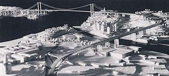 Österleden, Stockholm - Image: Osterbro modell 1948