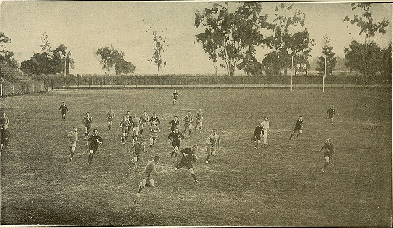 Photo of a Rugby Match, Stanford vs. New Zealand (1907)