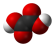 Space-fillin model o oxalic acid