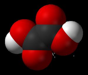 Oxalic acid - Image: Oxalic acid 3D vd W