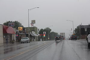 Oxford, Wisconsin - Looking east at Oxford on WIS 82