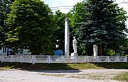 Ozeriany Turiiskyi Volynska-monument to the countryman-general view.jpg
