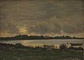 P.C. Skovgaard - View Across Præstø Fiord towards the manor of Nysø - KMS3393 - Statens Museum for Kunst.jpg