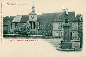 Sèvres - The Church of Saint-Romain-de-Blaye, at the start of the 20th century