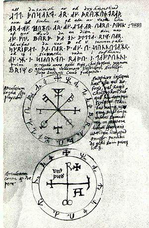 Petosiris to Nechepso - figure similar to Petosiris's Circle from Ole Worm's Computus Runicus.