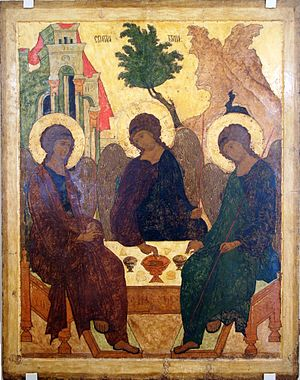 Icon of Holy Trinity, museum of A.Rublev. Трои...