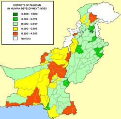 Pakistan Districts HDI
