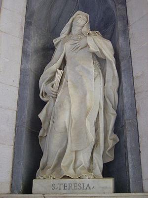 Teresa of Ávila - Statue of Saint Teresa of Ávila in Mafra National Palace, Mafra