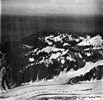 Palma Glacier and Palma Bay, junction of valley glacier and hanging glaciers, September 12, 1973 (GLACIERS 5760).jpg