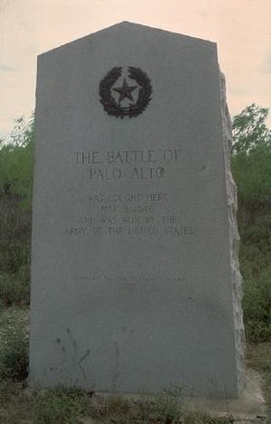 Palo Alto Battlefield National Historical Park - Battle of Palo Alto historical marker