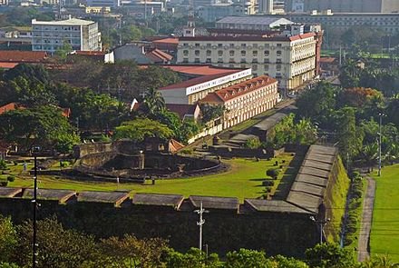 The campus of the University of the City of Manila and Baluarte de San Diego in Intramuros. Pamantasan ng Lungsod ng Maynila.jpg