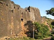 Panhala walls on Konkan side