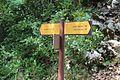 Panneau direction GR4 près Mescla Grand Canyon Verdon Palud Verdon 4.jpg