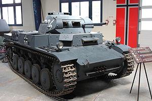 Panzer II - PzKpfw II Ausf. C at the Musée des Blindés.