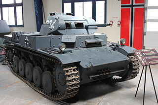 Panzer II light tank of the 1930s and 40s from Germany