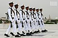 Parallel steps - Navy Guards replacing the Older Ones at Mazar-e-Quaid during Pakistan's Independence Day.jpg
