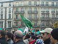 Paris 2006-02-11 anti-caricature protest drapeau Arabie Saoudite dsc07452.jpg