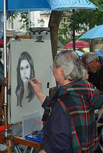 Street artist - Street artist in Place du Tertre, Paris