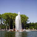 Park of Versailles, Bassin du char d'Apollon, South View with Fountain Running.jpg