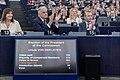 Parliament elects Ursula von der Leyen as first female Commission President (48300921487).jpg