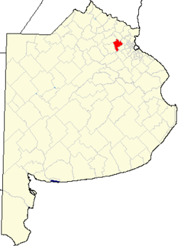 location of Luján Partido in Buenos Aires Province