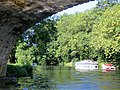 Passing under the oldest bridge at Wansford - August 2013 - panoramio.jpg