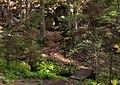 Path and footbridge in Gullmarsskogen ravine.jpg
