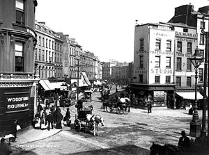 St Patrick's Street - View of St. Patrick's Street from Daunt Square (circa 1890)
