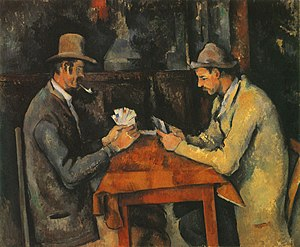 The Card Players, a 1895 painting by Paul Céza...