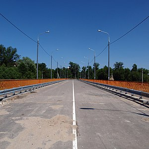 Bridge to nowhere - The bridge of Vachevskaya Street in Pavlovsky Posad