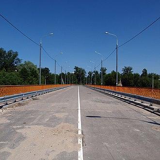 Bridge to nowhere - The bridge of Vachevskaya Street in Pavlovsky Posad