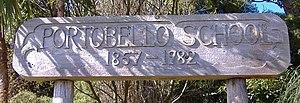 Portobello School (Dunedin) - Portobello School Sign at bottom of driveway